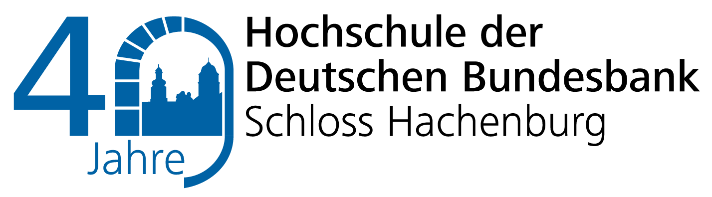 Logo zum 40jährigen bestehen der Hochschule der Deutschen Bundesbank
