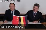 Kang Yitong and Erich Keller, German-Chinese university partnership renewed